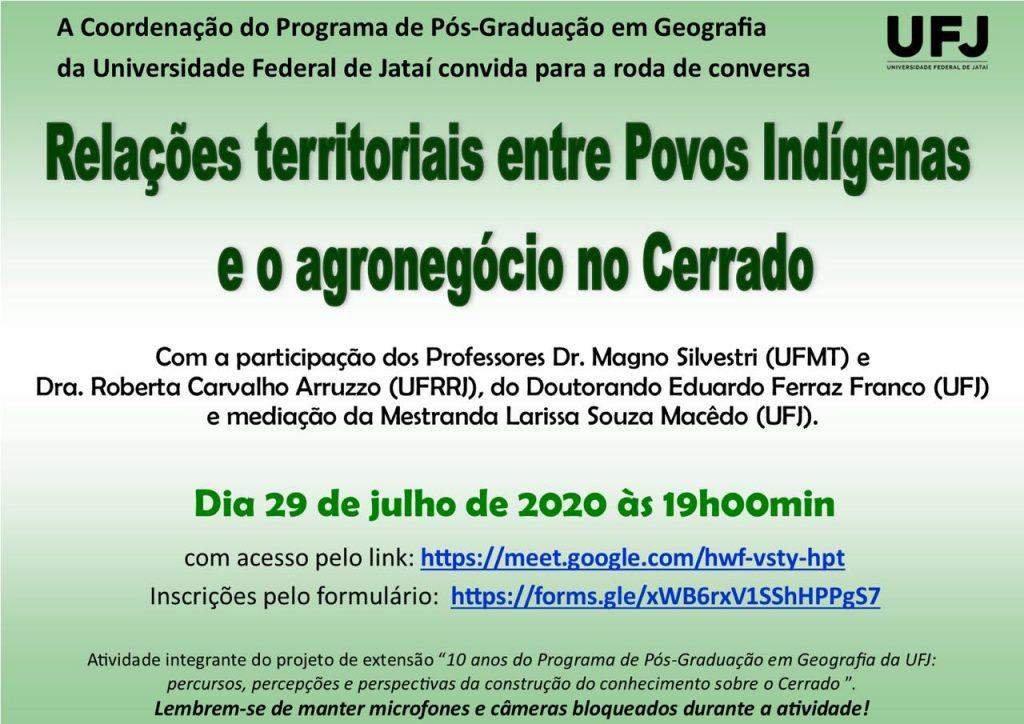 Relações territoriais entre Povos Indígenas e o agronegócio no Cerrado