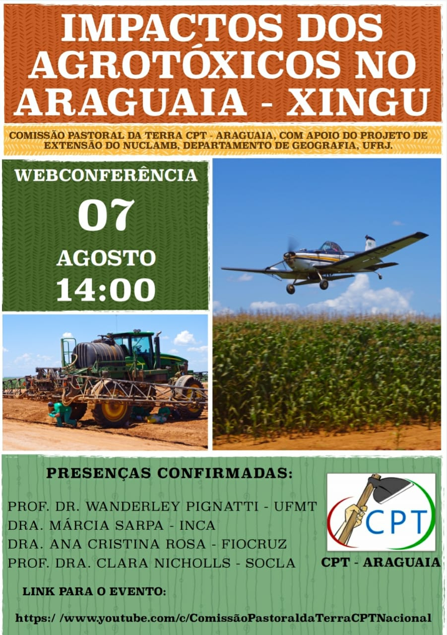Impactos dos agrotóxicos no Araguaia-Xingu