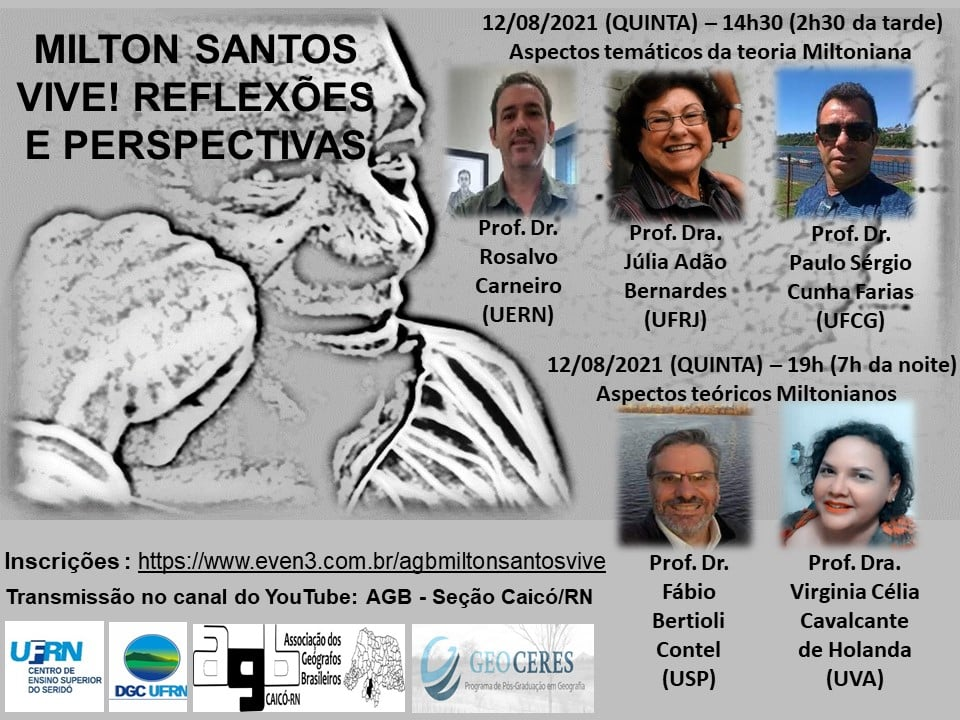 """vento """"Milton Santos Vive! Reflexões e perspectivas"""""""